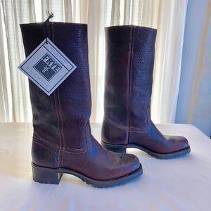 Frye Boots Dark Brown Campus 14G size US 9.5